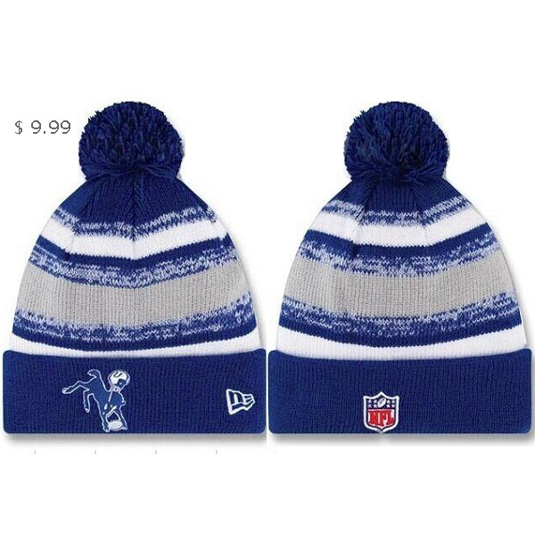 3e480267 NFL Knit Hats Indianapolis Colts NE Striped Beanie Sale ICKH06