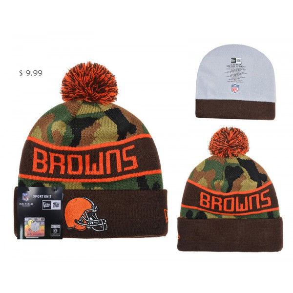 the latest f7820 56c6a ... new zealand cheap nfl cleveland browns knit hat wholeale ne camo sport  beanie 5c97e 83fca