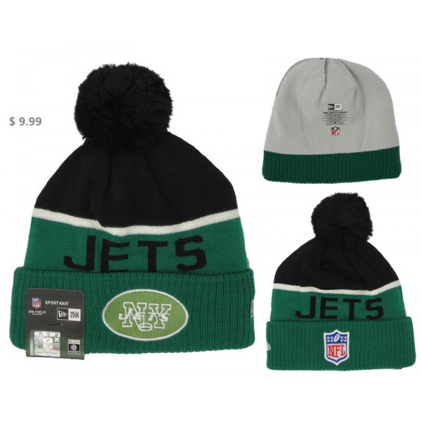d6deae2b38ba8b Cheap NFL New York Jets Beanie Wholesale NE Men's On-Field Knit Hat ...